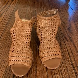 Sam Edelman Evie Basket Weave Leather Booties